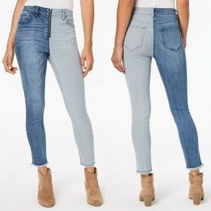 Dollhouse Two-Tone Hi-Rise Ankle Skinny Jeans 11